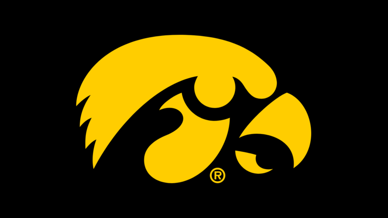 Made in USA University of Iowa Hawkeyes Game Table Light Featuring The Tigerhawk Logo